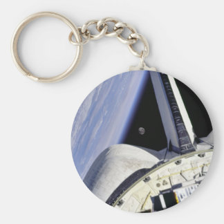 Looking Thru Rear View Mirror From Space Shuttle Key Ring