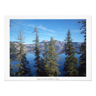 """""""Looking to the Lake"""" Crater Lake Photographic Print"""