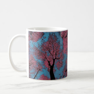 Looking Up at a Blue Sky & Pink Trees Coffee Mug