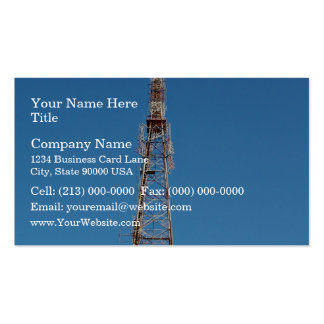 Looking up at communication tower pack of standard business cards
