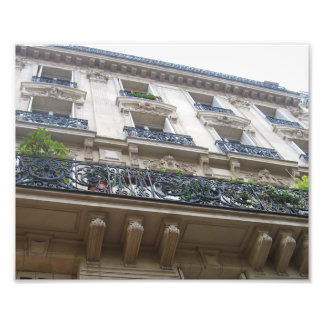 Looking up at French Balconies Photographic Print
