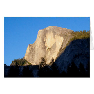 Looking Up at Half Dome (Custom Message) Card