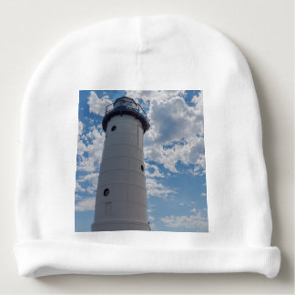 Looking Up Manistee Lighthouse Baby Beanie