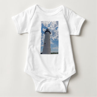 Looking Up Manistee Lighthouse Baby Bodysuit