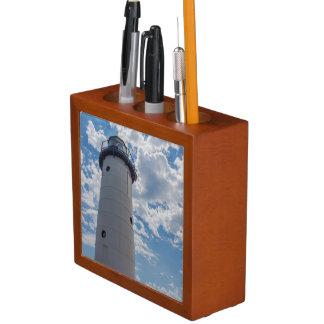 Looking Up Manistee Lighthouse Desk Organiser