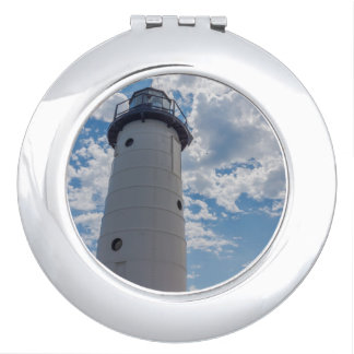 Looking Up Manistee Lighthouse Travel Mirror
