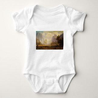Looking Up the Yosemite Valley - Albert Bierstadt Baby Bodysuit