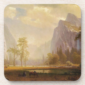 Looking Up the Yosemite Valley - Albert Bierstadt Drink Coasters