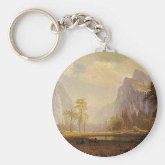 Looking Up the Yosemite Valley - Albert Bierstadt Key Ring