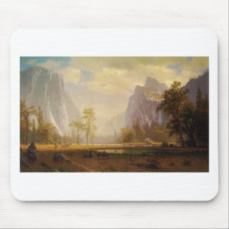 Looking Up the Yosemite Valley - Albert Bierstadt Mouse Pad