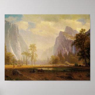 Looking Up the Yosemite Valley - Albert Bierstadt Poster