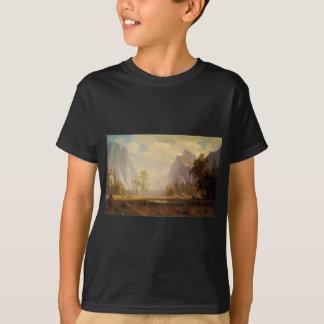 Looking Up the Yosemite Valley - Albert Bierstadt T-Shirt