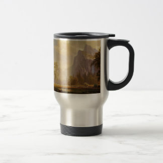 Looking Up the Yosemite Valley - Albert Bierstadt Travel Mug