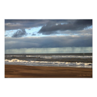 Looks Like Rain (Beach Scene) Photo Print