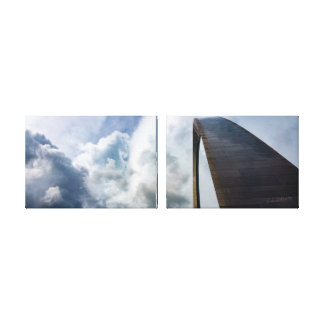 Lookup Gateway Arch St.Louis MO | 36x12 2X Canvas