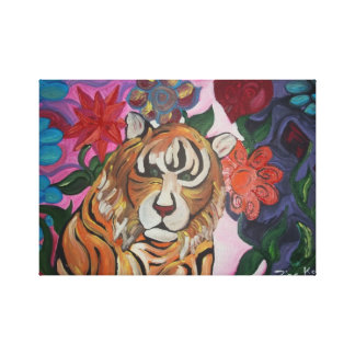 Looming Tiger Canvas Prints
