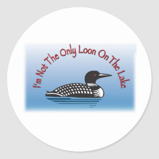 Loon Line of Fun Products Classic Round Sticker