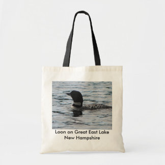 Loon on Great East Lake New Hampshire Tote Bag
