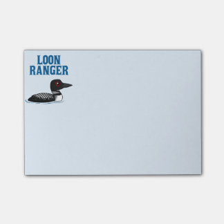 Loon Ranger Post-it Notes