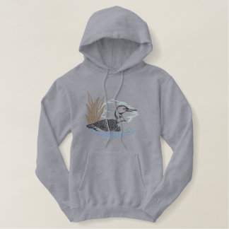 Loon Scene Embroidered Hoody