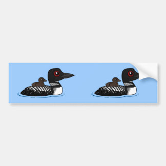 Loon with chick bumper sticker