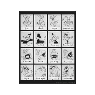LOONEY TUNES™ Character Emotion Chart Canvas Print
