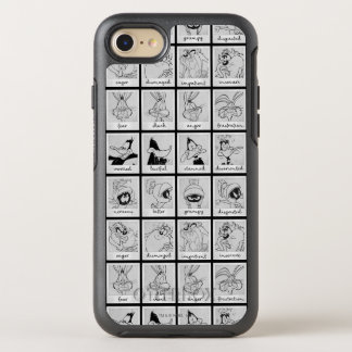 LOONEY TUNES™ Character Emotion Chart OtterBox Symmetry iPhone 8/7 Case