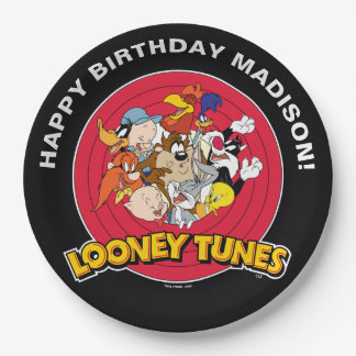 Looney Tunes Character Group | Birthday 9 Inch Paper Plate