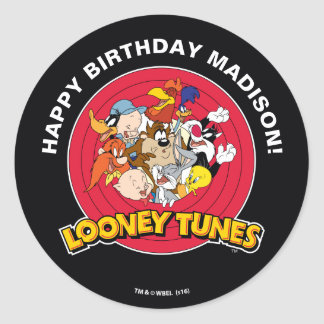 LOONEY TUNES™ Character Group | Birthday Round Sticker