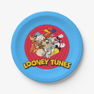 Looney Tunes Character Logo 7 Inch Paper Plate