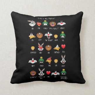 LOONEY TUNES™ Emoji Chart Cushion