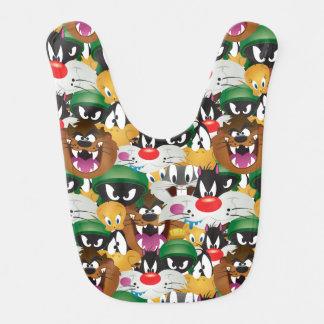 LOONEY TUNES™ Emoji Pattern Baby Bib