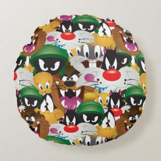 LOONEY TUNES™ Emoji Pattern Round Cushion