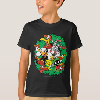 LOONEY TUNES™ Group Christmas Wreath T-Shirt