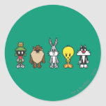LOONEY TUNES™ Group Photo Op Classic Round Sticker