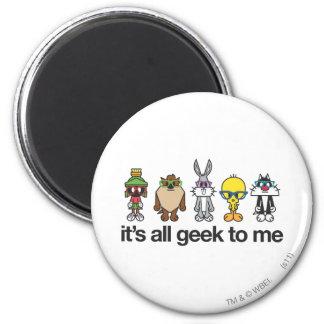 LOONEY TUNES™ Nerds - All Geek 6 Cm Round Magnet