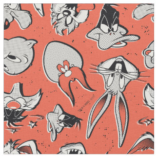 LOONEY TUNES™ Retro Halftone Pattern Fabric