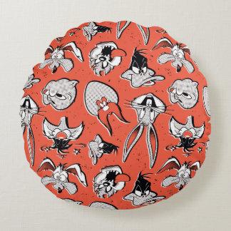 LOONEY TUNES™ Retro Halftone Pattern Round Cushion