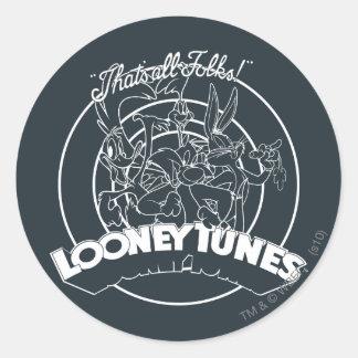 LOONEY TUNES™ That's All Folks Round Sticker