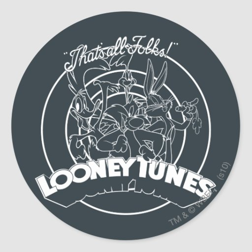 Looney Tunes That's All Folks Stickers