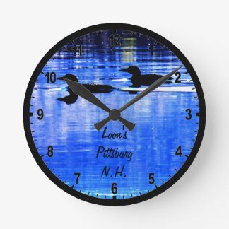 Loons in Pittsburg Round Clock