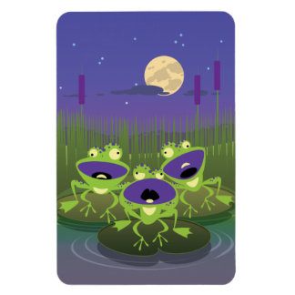 Loony Frogs Rectangular Magnet