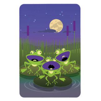 Loony Frogs Rectangular Photo Magnet
