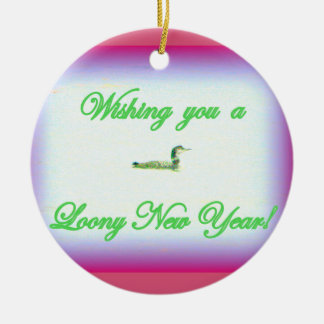 loony new year/ merry christmas ornament