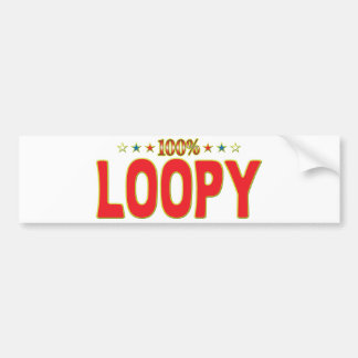 Loopy Star Tag Bumper Sticker