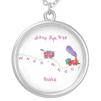 Loose Caboose Whoo Whoo! Train Silver Plated Necklace
