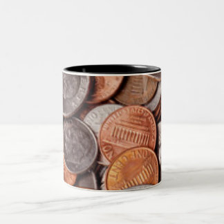 Loose Change Two-Tone Coffee Mug