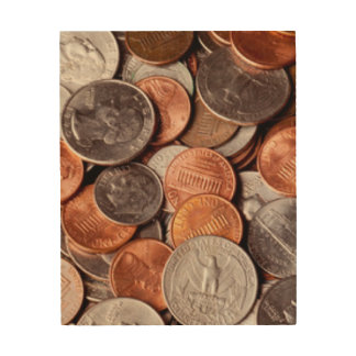 Loose Change Wood Print