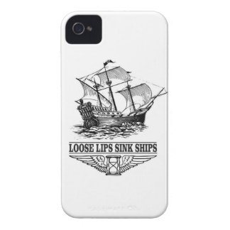loose lips sink ships Case-Mate iPhone 4 case