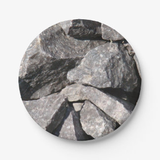 Loose Rough Granite Rock Paper Plates